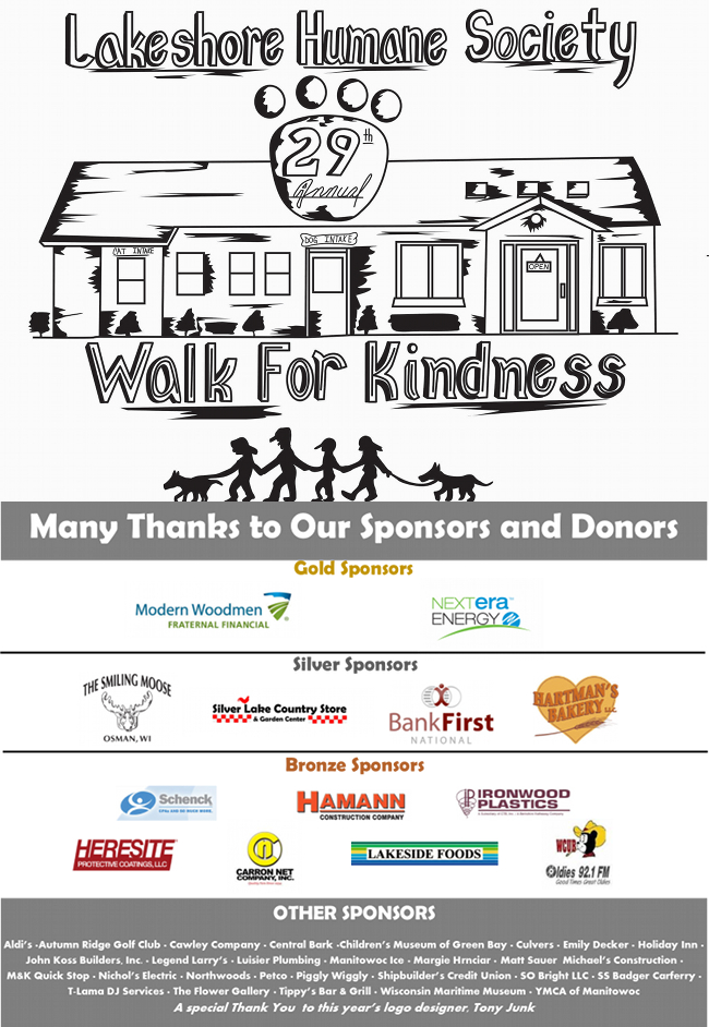 2015 Walk for Kindness Sponsors